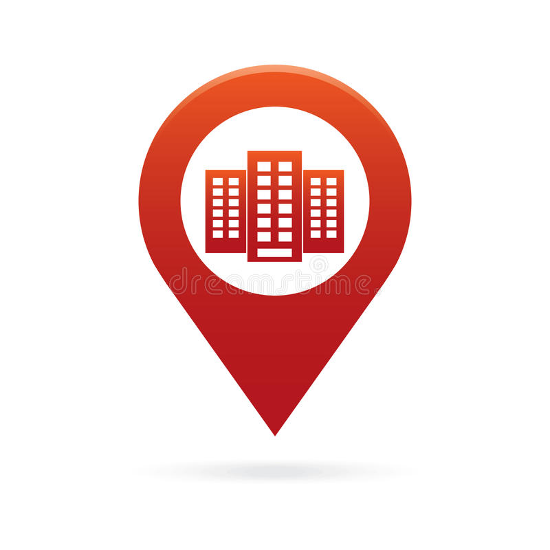 Free Building Map Pointer Icon Marker GPS Location Flag Symbol Stock Photo - 94993750