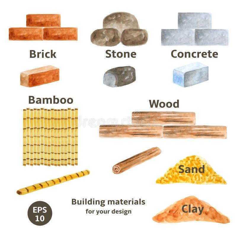 Building Materials Amp Building Supplies : Building materials set stock vector illustration of