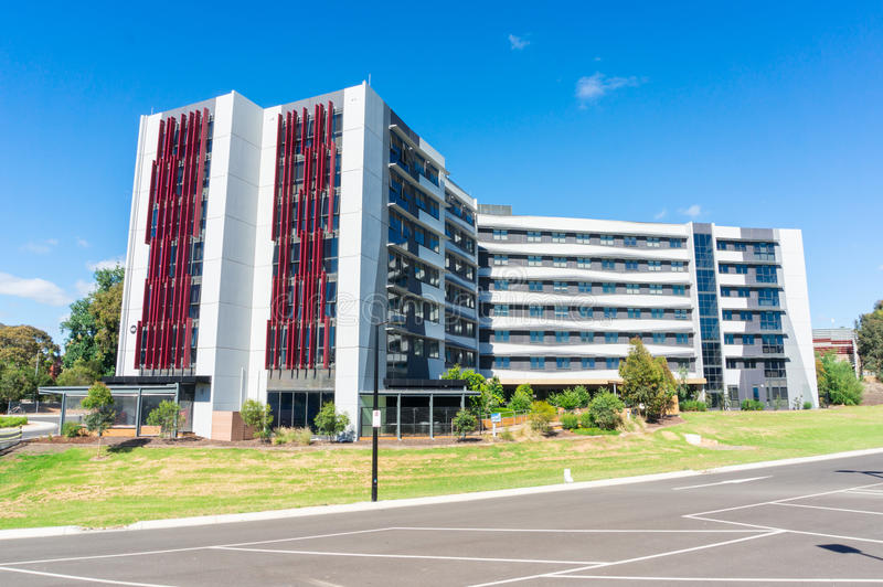 Building MB at Deakin University. Building MB at the Burwood campus of Deakin University in Melbourne, Australia royalty free stock photo