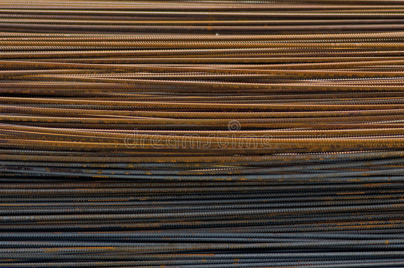 Building metal bars. Folded in packaging texture royalty free stock photo
