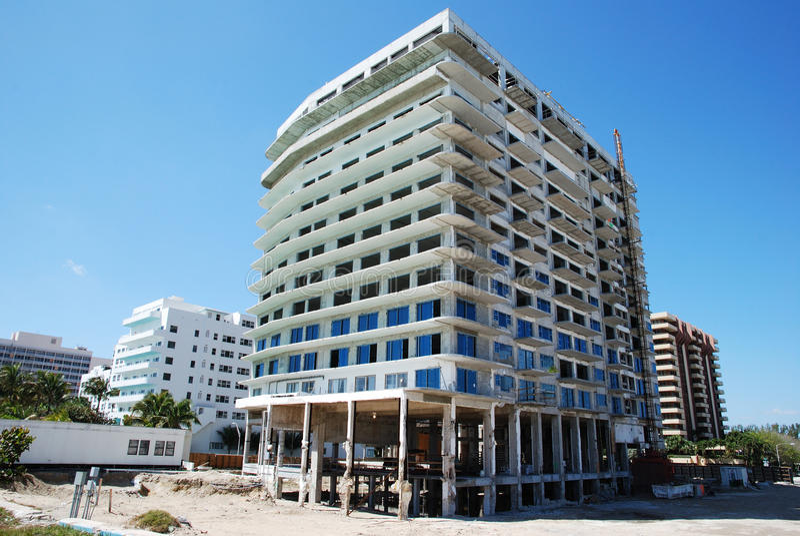 Building Miami Beach royalty free stock photos