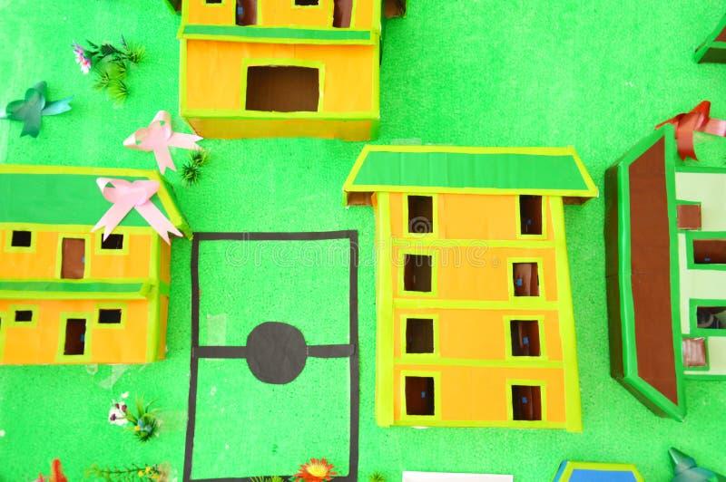 Building Miniature Cardboard Royalty Free Stock Image