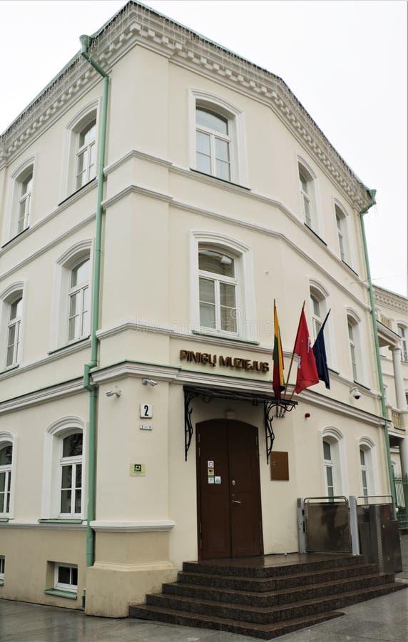 Money museum in Vilnius, Lithuania stock photos