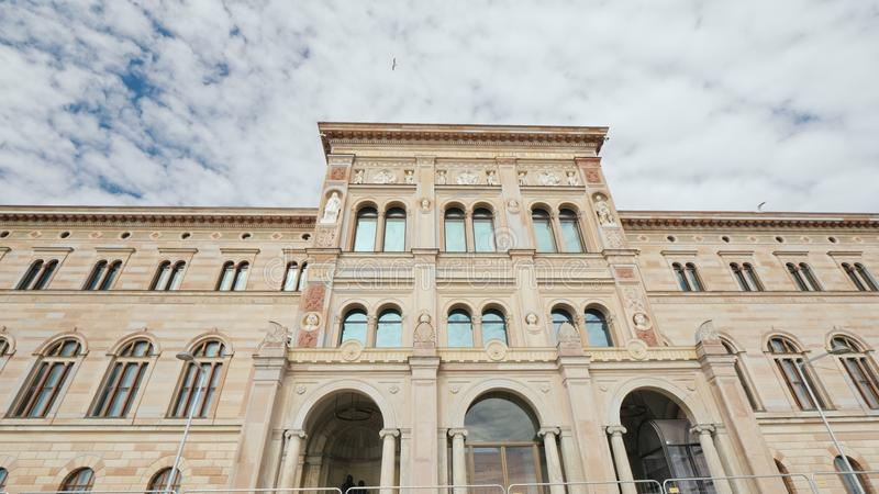 Stockholm, Sweden, July 2018: The building of the National Museum of Sweden is Sweden`s largest museum of fine arts. The building of the National Museum of royalty free stock photos