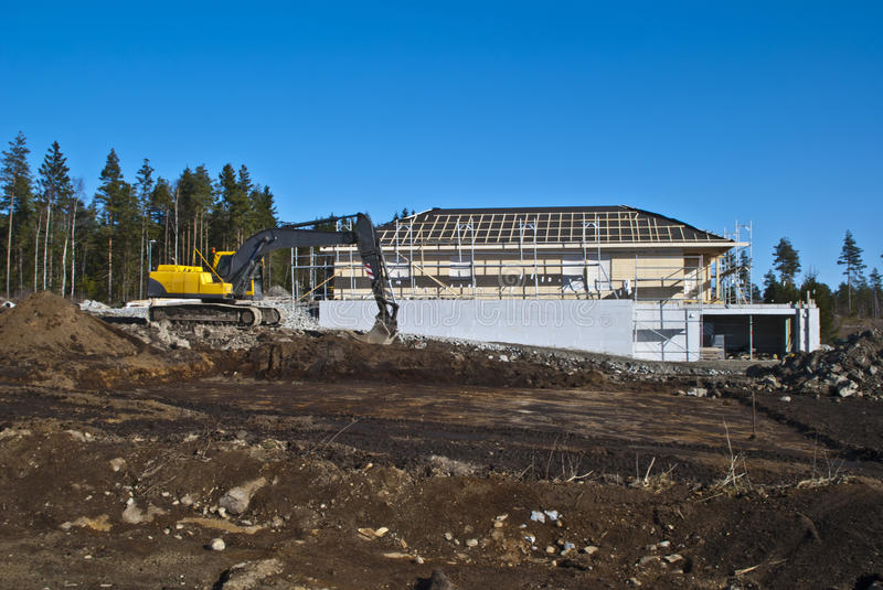 Download Building New Houses. Royalty Free Stock Images - Image: 23894809