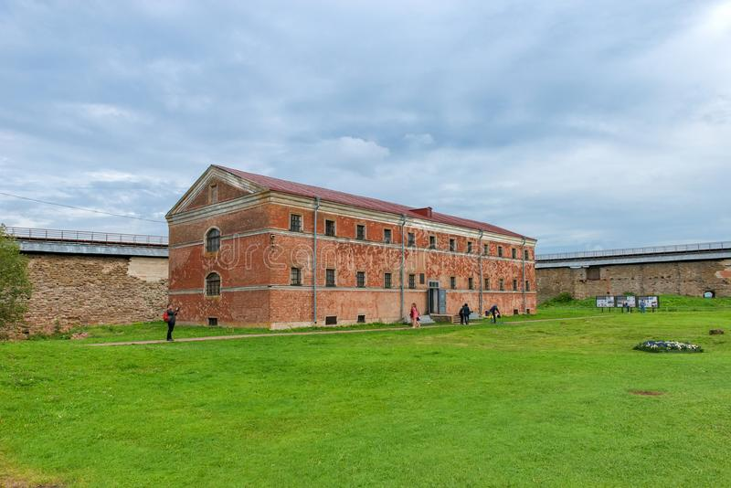The building of the `New Prison` 1880s in the Fortress of Oreshek stock image