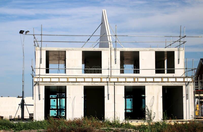 building of a new residential district named Esse Zoom Laag in Nieuwerkerk aan den IJssel in the Netherlands royalty free stock photography