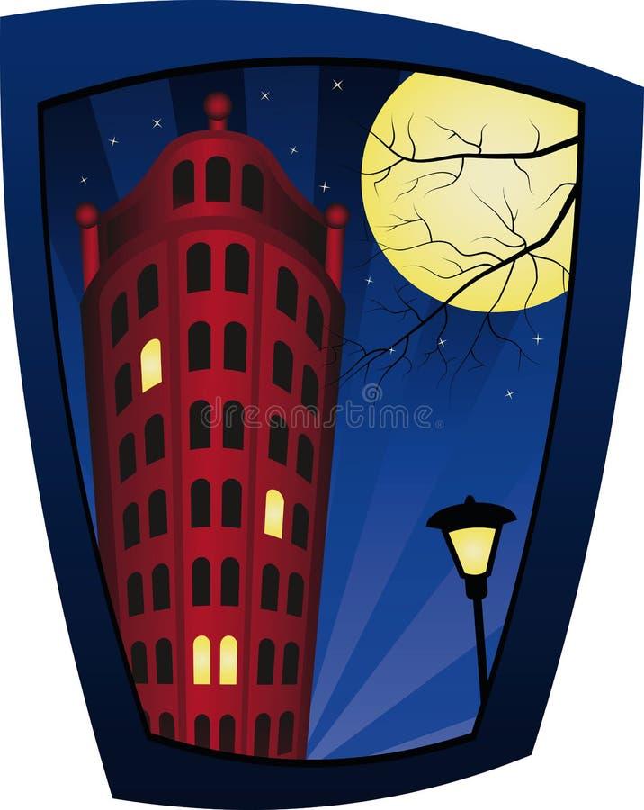 Download Building at night stock vector. Image of lantern, illustration - 7903393