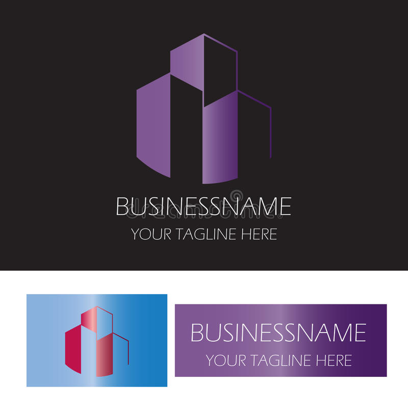 Building office logo royalty free illustration
