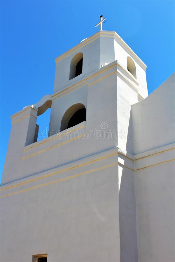 Old Adobe Mission, Our Lady of Perpetual Help Catholic Church, Scottsdale, Arizona, United States. Building at Old Adobe Mission, Our Lady of Perpetual Help stock images