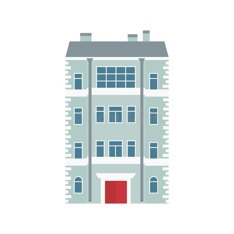 Building. Old town. Vector illustration in flat style royalty free illustration