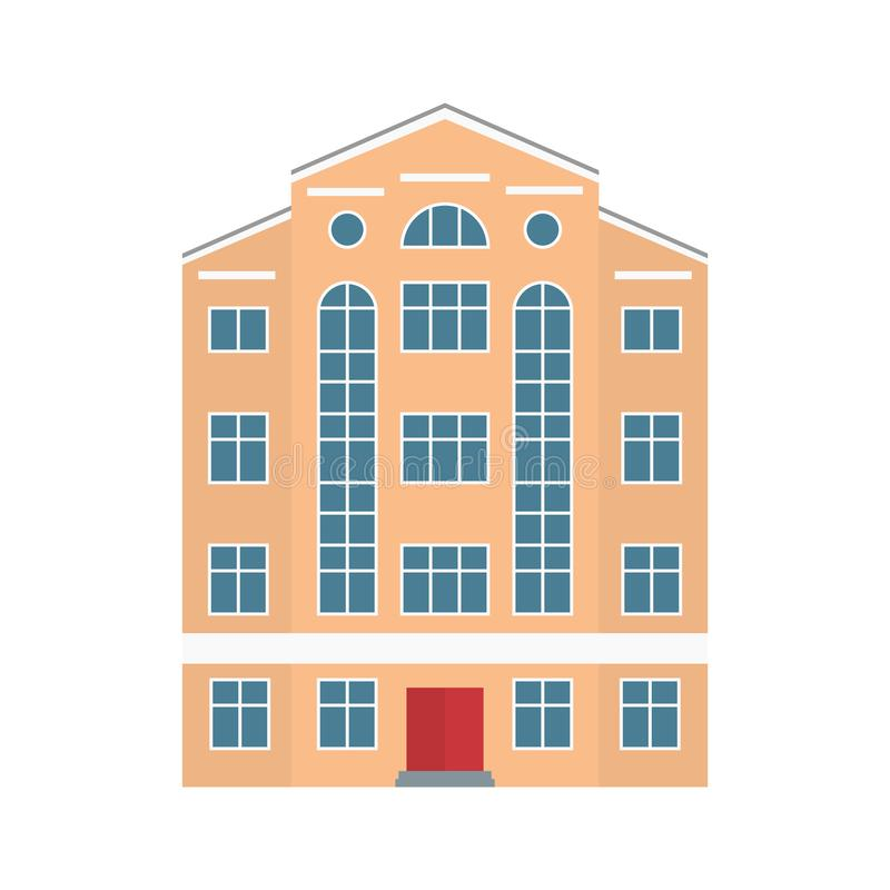 Building. Old town. Vector illustration in flat style stock illustration