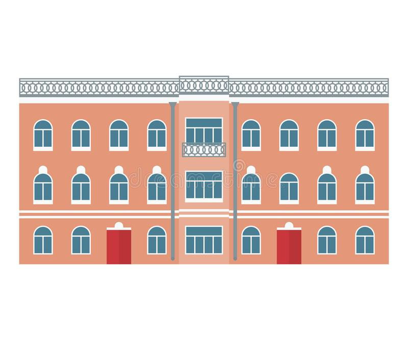 Building. Old town. Vector illustration in flat style vector illustration