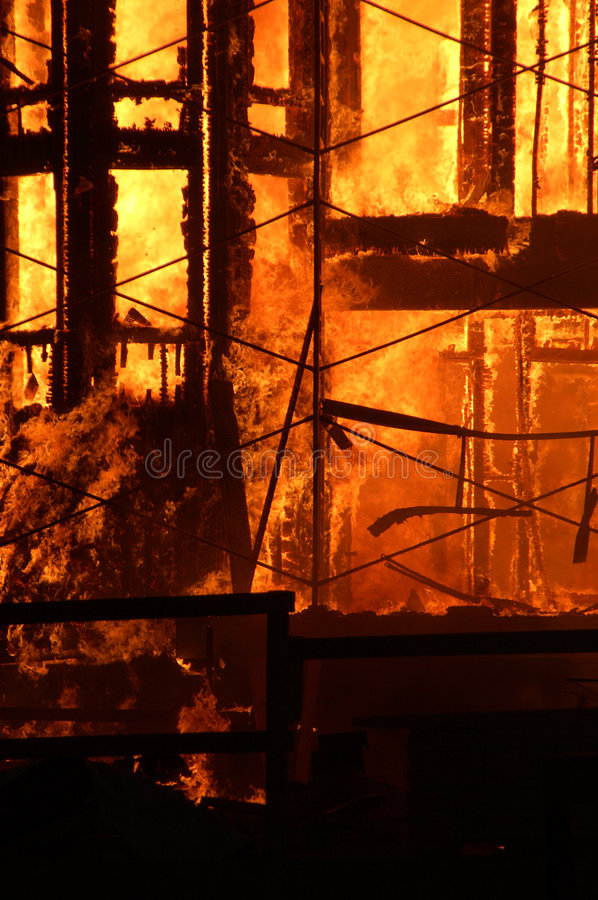 Free Building On Fire Stock Photography - 1235292