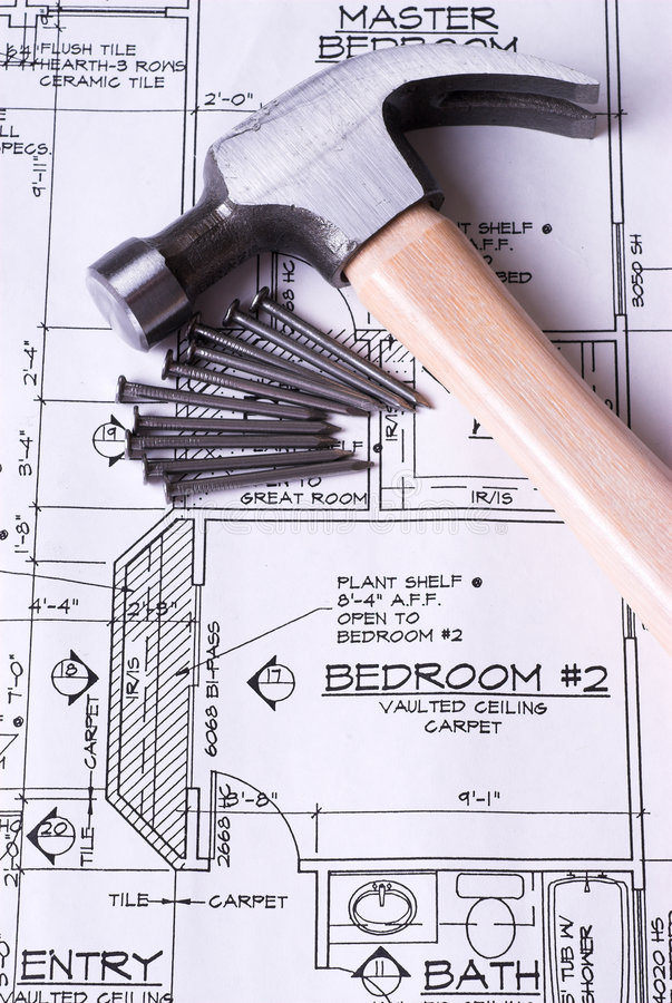 Building Our New Home stock images