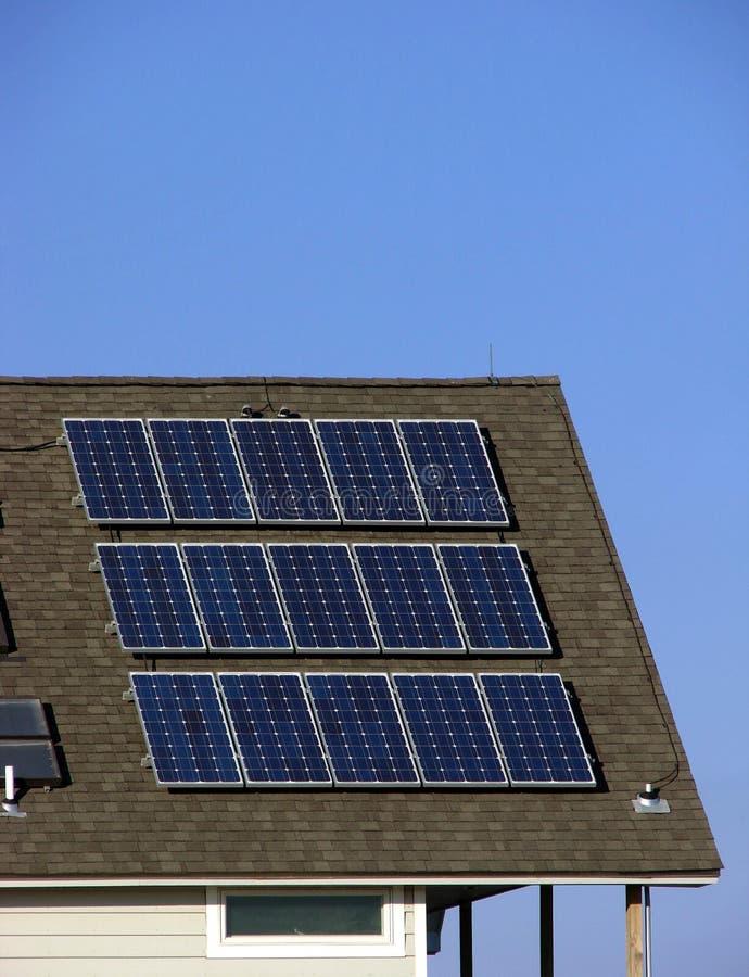 building panels roof solar 库存照片