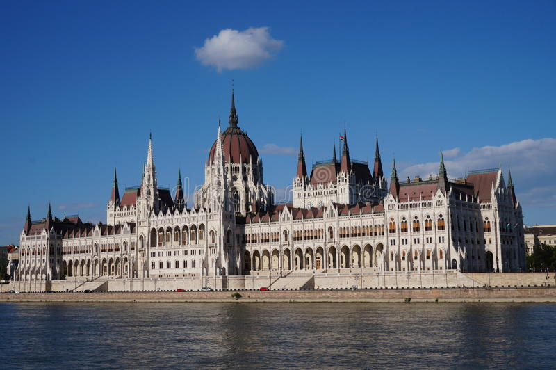 The building of parliament Budapest stock image