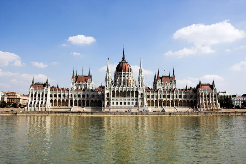 The building of the Parliament of Hungary royalty free stock photography