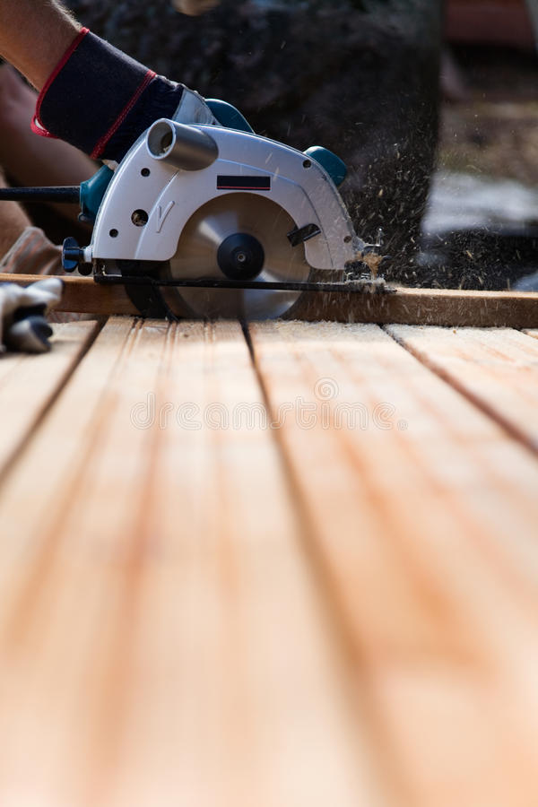 Building a patio royalty free stock images