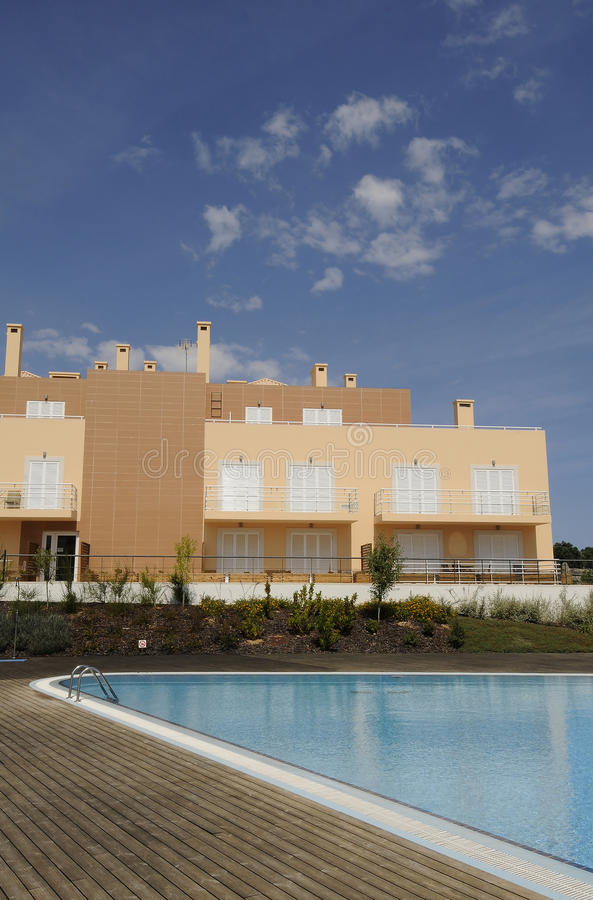 Download Building and pool stock photo. Image of color, architecture - 15093096