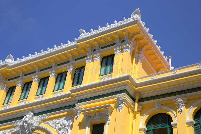 Building of Post Office in Saigon royalty free stock photo