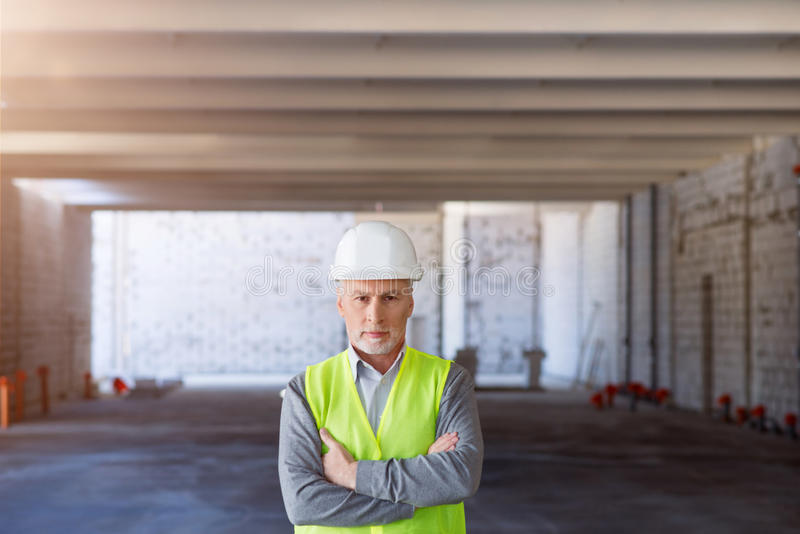 Building processes. Leader part stock images