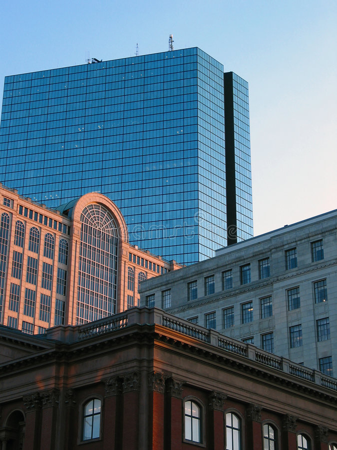 Building Progress. Progression of Building styles skyward stock photography