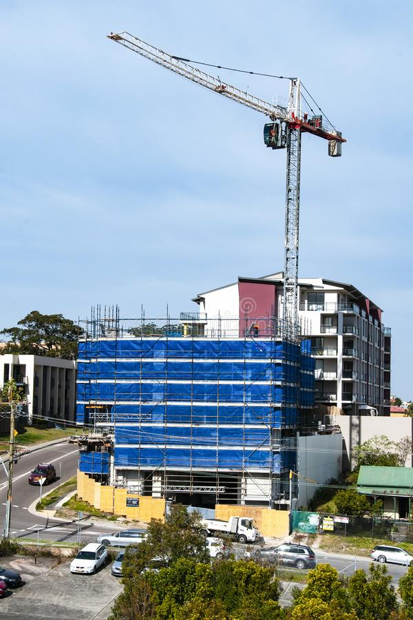 Building progress 109. At 47 Beane St. Gosford. July 2018. Gosford, New South Wales, Australia - July 19. 2018: Construction and building progress update 109 stock photo