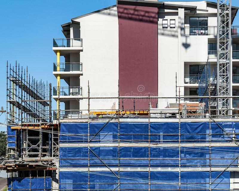 Building progress 94. At 47 Beane St. Gosford. JUNE 2018. Gosford, New South Wales, Australia - June 16. 2018: Construction and building progress update 94 on royalty free stock images