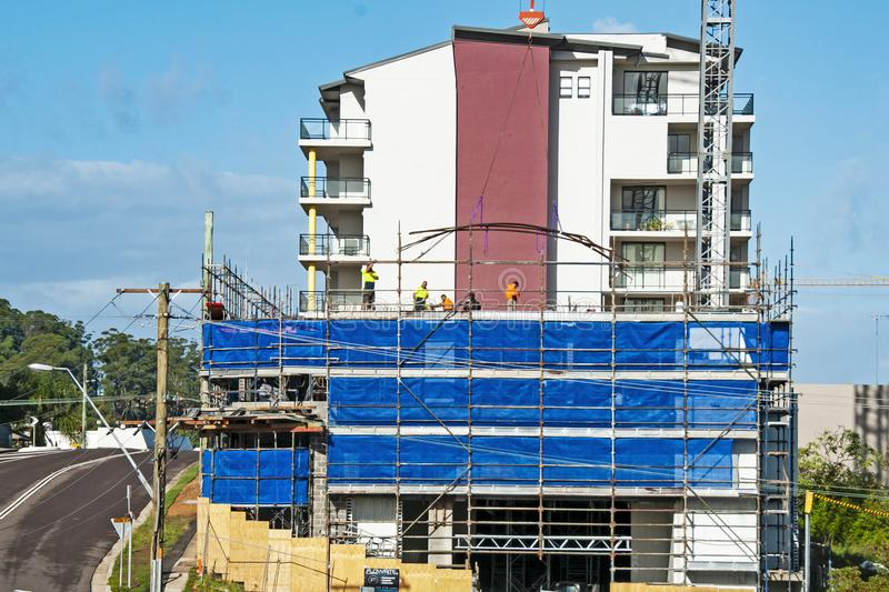 Building progress 88. At 47 Beane St. Gosford. June 2018. Gosford, New South Wales, Australia - June 7. 2018: Construction and building progress update 88 on royalty free stock photo