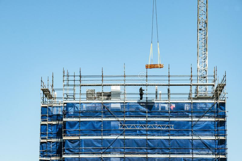 Building progress 118. At 47 Beane St. Gosford. November 2018. Gosford, New South Wales, Australia - August 29. 2018: Construction and building progress update stock photos