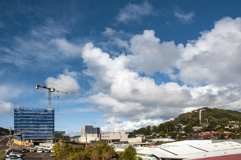 Building progress 130. At 47 Beane St. Gosford. September 2018. Gosford, New South Wales, Australia - September 4. 2018: Construction site and building progress stock image