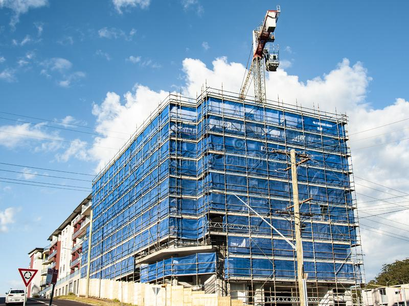 Building progress 136. At 47 Beane St. Gosford. September 2018. Gosford, New South Wales, Australia - September 7. 2018: Construction site and building progress royalty free stock photo