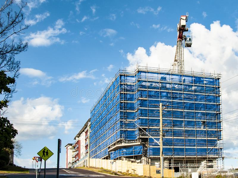 Building progress 137. At 47 Beane St. Gosford. September 2018. royalty free stock photography