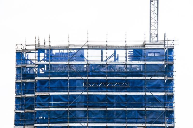 Building progress 131. At 47 Beane St. Gosford. September 2018. Gosford, New South Wales, Australia - September 5. 2018: Construction and building progress royalty free stock photos