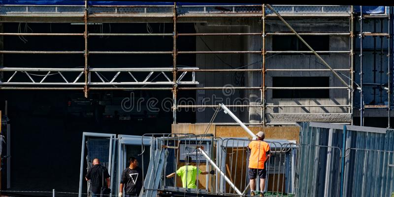 Building progress 145c. At 47 Beane St. Gosford. October 2018. Gosford, New South Wales, Australia - October 31. 2018: Construction and building progress update royalty free stock image