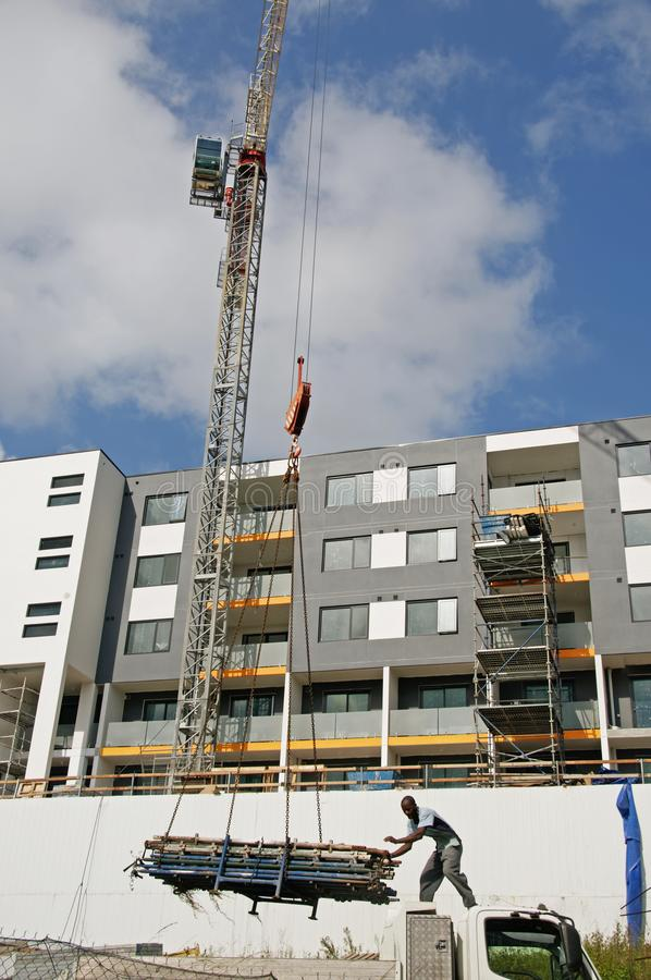 Building progress update ed219. At 47 Beane St. Gosford. March, 2019. Gosford, New South Wales, Australia - March 14, 2019: Construction and building progress on stock image