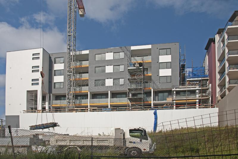Building progress update ed218. At 47 Beane St. Gosford. March, 2019. Gosford, New South Wales, Australia - March 14, 2019: Construction and building progress on royalty free stock image