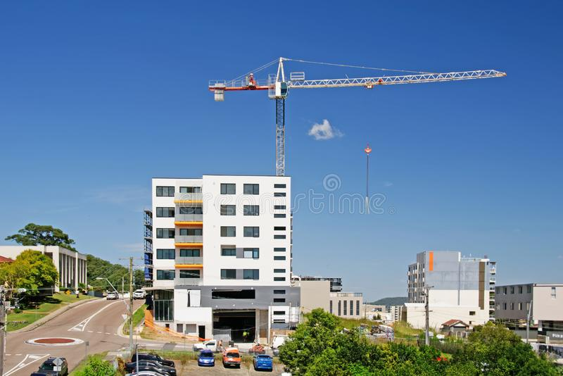 Building progress update ed215. At 47 Beane St. Gosford. March 2019. Gosford, New South Wales, Australia - March 12, 2019: Construction and building progress on stock photos