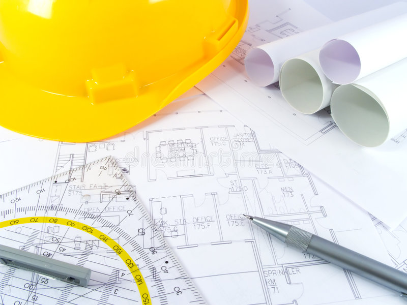 Building projects stock image