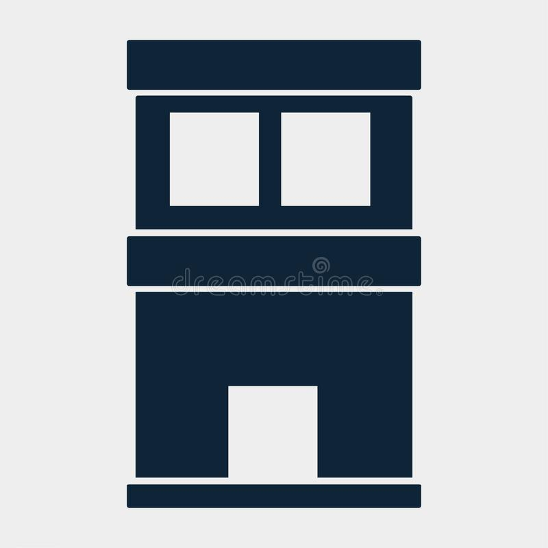 Building  for property real estates icon vector illustration royalty free stock photography