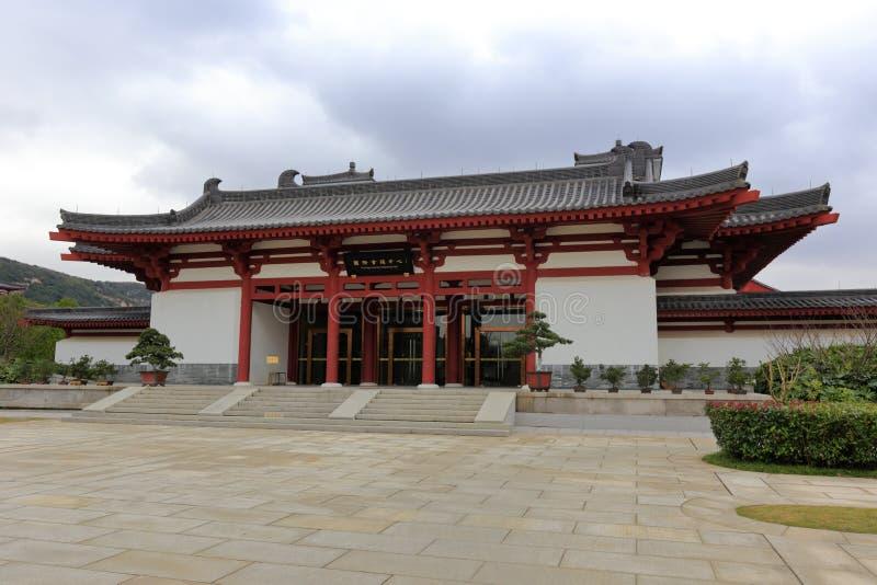 International conference center of putuoshan buddha college, adobe rgb. Building of Putuoshan Buddha College, zhoushan city, zhejiang province, china stock images