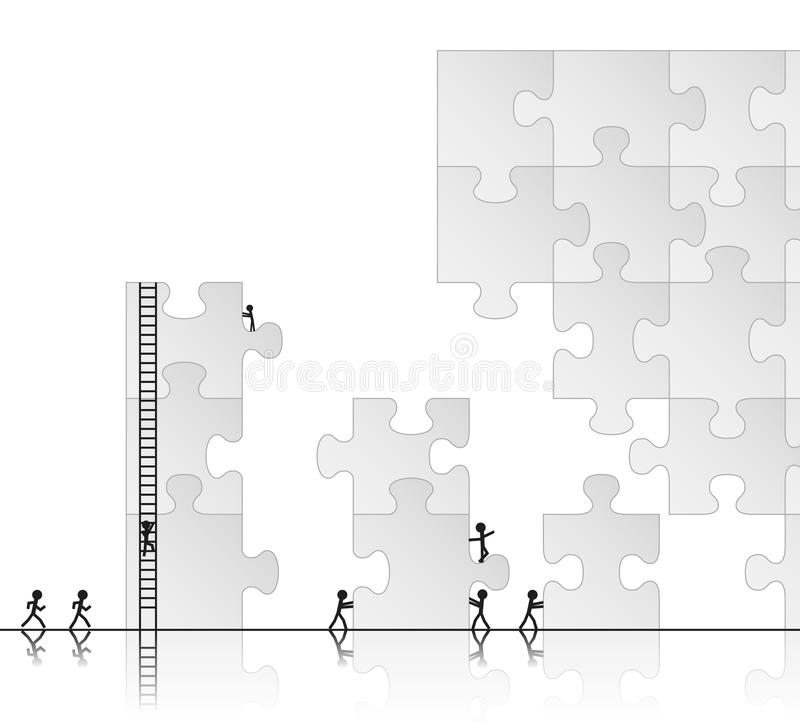 Download Building a puzzle stock vector. Image of part, group - 22533444