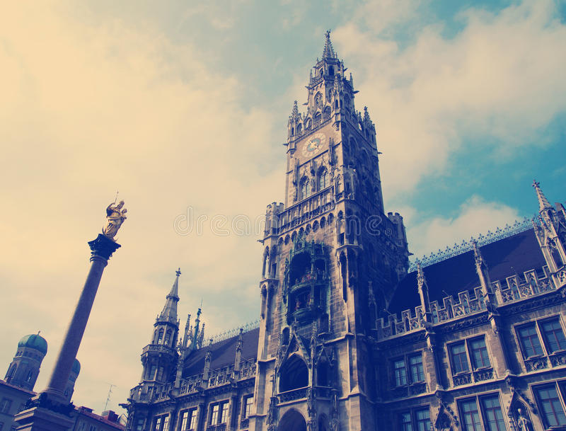 Building of Rathaus city hall in Munich, Germany stock photo
