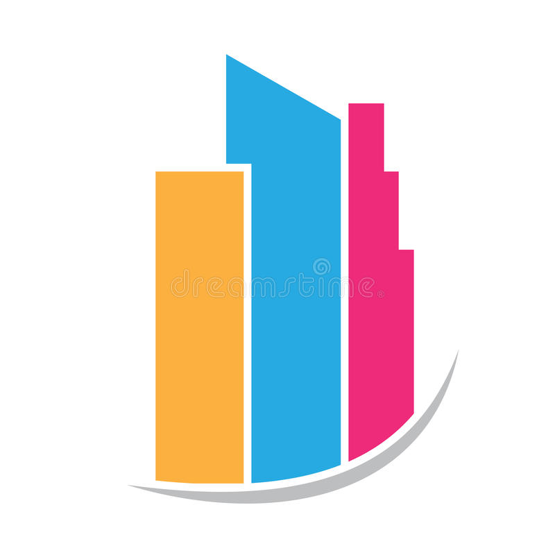 Building real estate tower logo stock illustration
