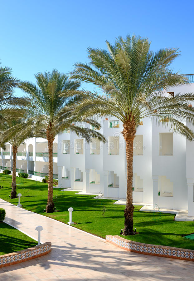Building and recreation area of the luxury hotel