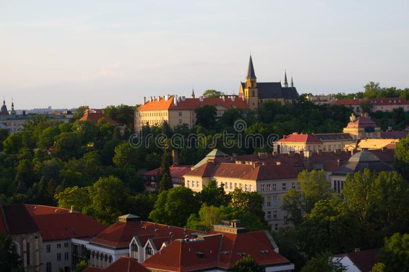 building with red roof royalty free stock photography