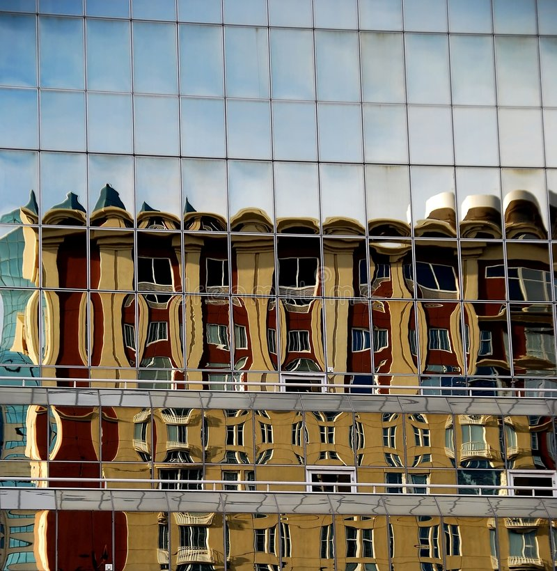 Free Building Reflected In Glass Panels Royalty Free Stock Image - 7485466