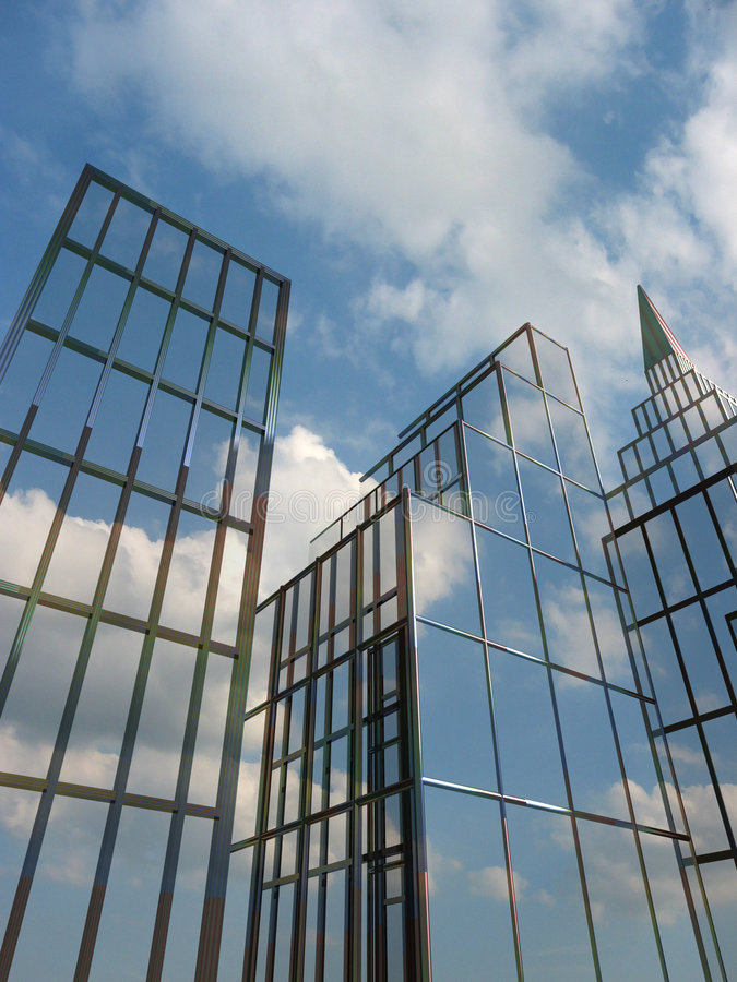 Download Building  reflections stock photo. Image of clipping, financial - 2392358