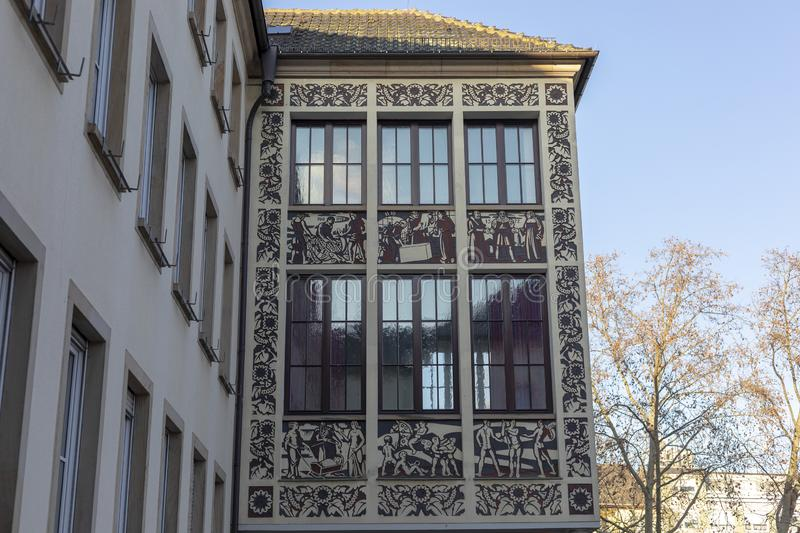 Building of Registry Office - wedding Palace in Fankenthal pfalz Germany.  stock image